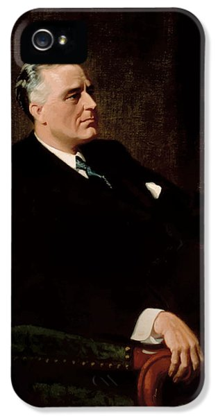 White House iPhone 5 Cases - FDR Official Portrait  iPhone 5 Case by War Is Hell Store