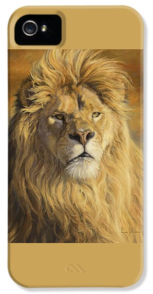 Lion iPhone 5 Cases - Fearless - Detail iPhone 5 Case by Lucie Bilodeau