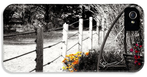 Bush iPhone 5 Cases - Fence near the Garden iPhone 5 Case by Julie Hamilton