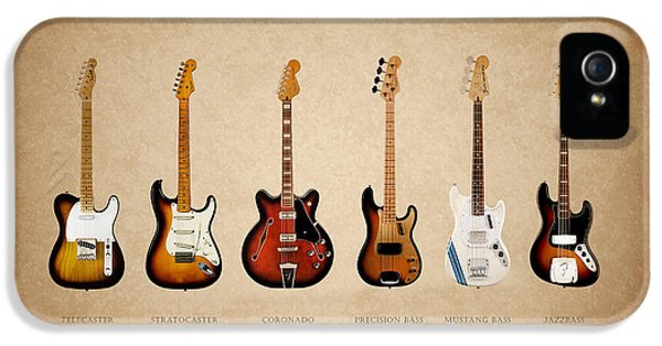 Rock And Roll iPhone 5 Cases - Fender Guitar Collection iPhone 5 Case by Mark Rogan