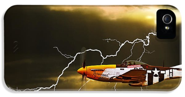 Usaf iPhone 5 Cases - Ferocious Frankie In A Storm iPhone 5 Case by Meirion Matthias