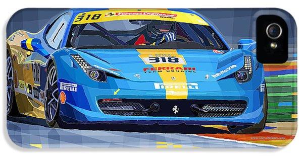 Ferrari 458 Challenge Team Ukraine 2012 IPhone 5 / 5s Case by Yuriy  Shevchuk