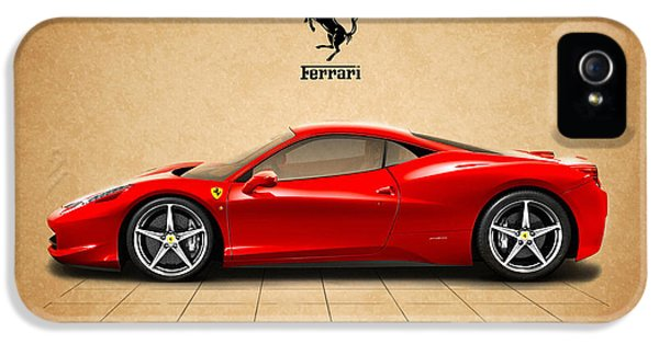 Car iPhone 5 Cases - Ferrari 458 Italia iPhone 5 Case by Mark Rogan