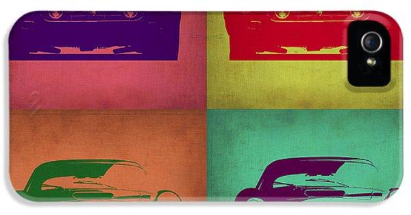 Italian Classic Car iPhone 5 Cases - Ferrari Front Pop Art 1 iPhone 5 Case by Naxart Studio