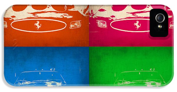 Italian Classic Car iPhone 5 Cases - Ferrari Front Pop Art 4 iPhone 5 Case by Naxart Studio