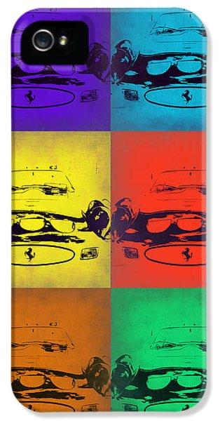 Ferrari iPhone 5 Cases - Ferrari Front Pop Art 5 iPhone 5 Case by Naxart Studio