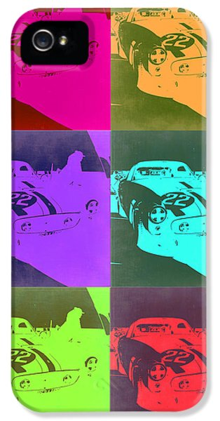 Italian Classic Car iPhone 5 Cases - Ferrari GTO Pop Art 3 iPhone 5 Case by Naxart Studio