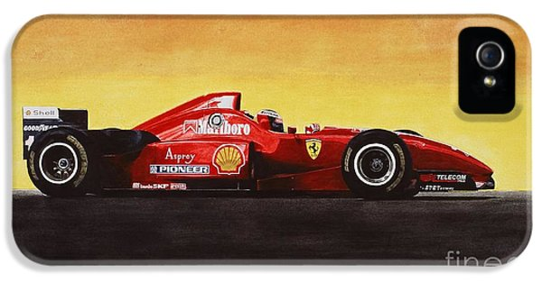 Michael Schumacher iPhone 5 Cases - Flag iPhone 5 Case by Oleg Konin