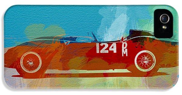 Italian Classic Car iPhone 5 Cases - Ferrari Testa Rossa Watercolor 1 iPhone 5 Case by Naxart Studio
