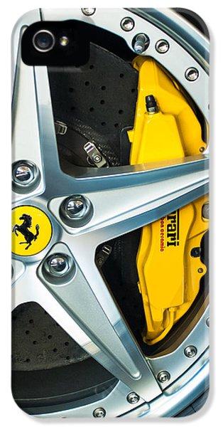 Ferrari iPhone 5 Cases - Ferrari Wheel 3 iPhone 5 Case by Jill Reger