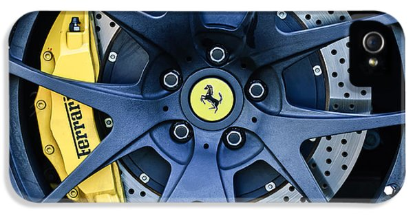 Ferrari Wheel Emblem - Brake Emblem -0430c IPhone 5 / 5s Case by Jill Reger