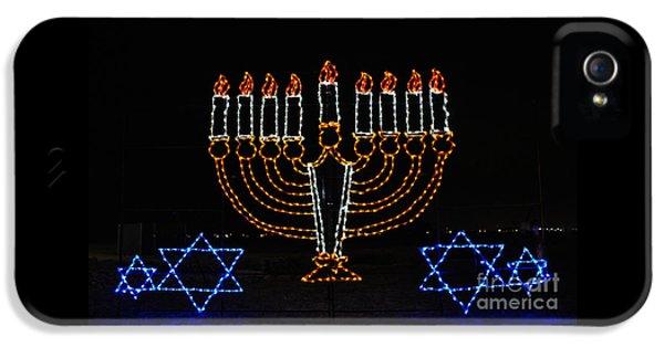 Hanukkah Card iPhone 5 Cases - Festival of Lights iPhone 5 Case by Savannah Gibbs
