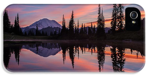 Fiery Rainier Sunset IPhone 5 / 5s Case by Mike Reid