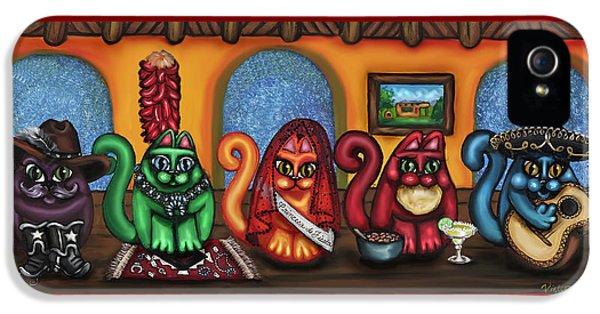 Fiesta Cats Or Gatos De Santa Fe IPhone 5 / 5s Case by Victoria De Almeida