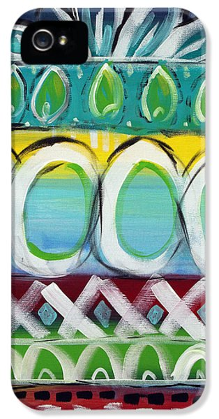 Bold iPhone 5 Cases - Fiesta - Colorful Painting iPhone 5 Case by Linda Woods