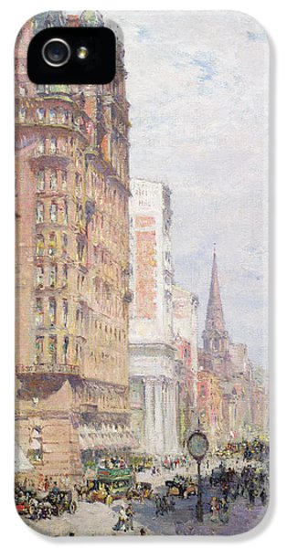 Aves iPhone 5 Cases - Fifth Avenue New York City 1906 iPhone 5 Case by Colin Campbell Cooper
