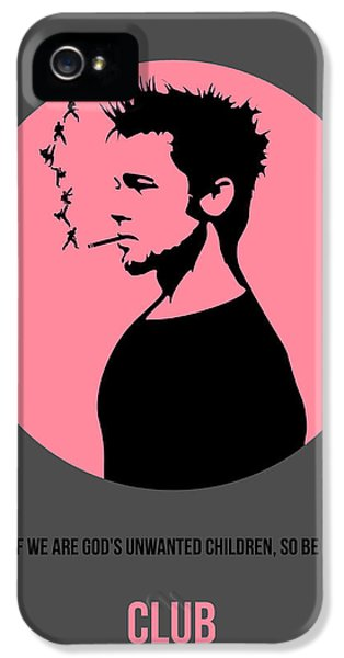 Edward iPhone 5 Cases - Fight Club Poster 1 iPhone 5 Case by Naxart Studio