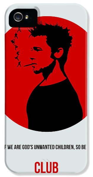Edward iPhone 5 Cases - Fight Club Poster 2 iPhone 5 Case by Naxart Studio