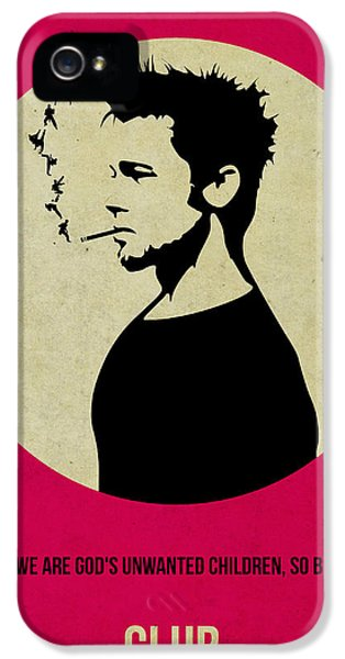 Tv Show iPhone 5 Cases - Fight Club Poster iPhone 5 Case by Naxart Studio