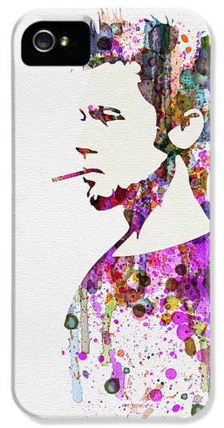 Tv Show iPhone 5 Cases - Fight Club Watercolor iPhone 5 Case by Naxart Studio