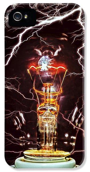 Filament (lightbulb) iPhone 5 Cases - Filament iPhone 5 Case by Daniel Hagerman
