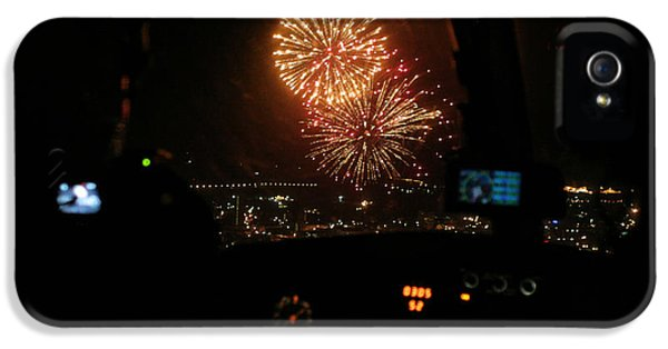 Fire Works iPhone 5 Cases - Fire in the Sky iPhone 5 Case by Paul Job