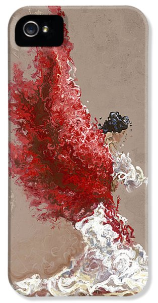 Angel iPhone 5 Cases - Fire iPhone 5 Case by Karina Llergo Salto