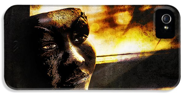 Fire Mask IPhone 5 / 5s Case by Scott Norris