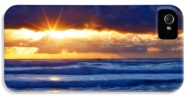 Oregon Coast iPhone 5 Cases - Fire on the Horizon iPhone 5 Case by Darren  White