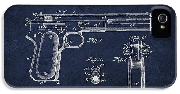 Guns iPhone 5 Cases - Firearm Patent Drawing from 1897 iPhone 5 Case by Aged Pixel