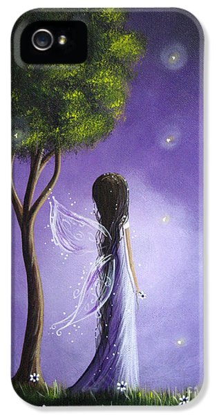 Whimsy iPhone 5 Cases - Original Fairy Art by Shawna Erback iPhone 5 Case by Shawna Erback