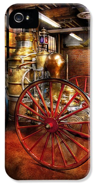 Steampunk iPhone 5 Cases - Fireman - One day a long time ago  iPhone 5 Case by Mike Savad