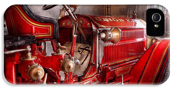 Fireman - Truck - Waiting For A Call IPhone 5 / 5s Case by Mike Savad