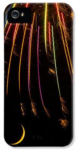 Firework iPhone 5 Cases - Firework Indian Headdress iPhone 5 Case by Darryl Dalton