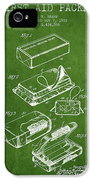 Illness iPhone 5 Cases - First Aid Packet Patent from 1922 - Green iPhone 5 Case by Aged Pixel