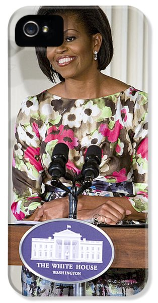 Michelle Obama iPhone 5 Cases - First Lady Michelle Obama iPhone 5 Case by JP Tripp