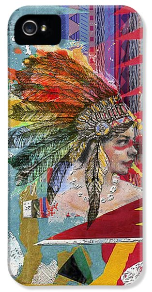 First Nations iPhone 5 Cases - First Nations 32 B iPhone 5 Case by Corporate Art Task Force