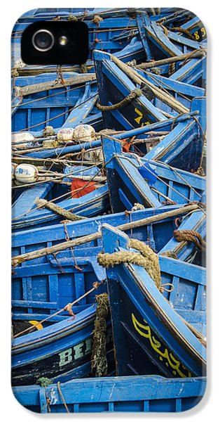 Concepts And Topics iPhone 5 Cases - Fishing Boats Morocco iPhone 5 Case by Alex Adams