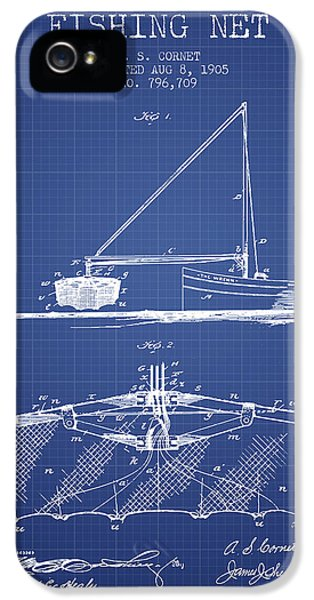 Net iPhone 5 Cases - Fishing Net Patent from 1905- Blueprint iPhone 5 Case by Aged Pixel