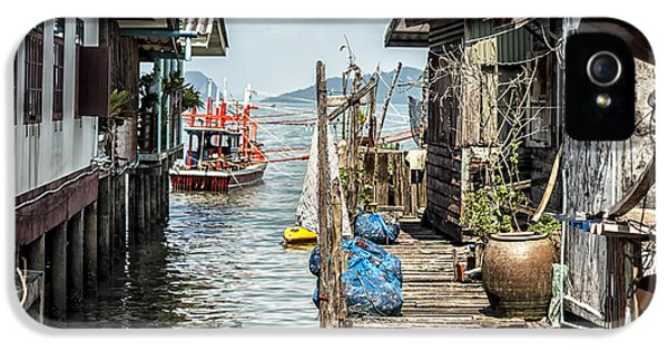 Shanty iPhone 5 Cases - Fishing Village in Koh Lanta Thailand iPhone 5 Case by Nomad Art And  Design