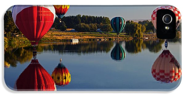 Balloon iPhone 5 Cases - Five Aloft iPhone 5 Case by Mike  Dawson