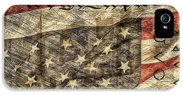 We The People iPhone 5 Cases - Flag in Distress iPhone 5 Case by Brian Mollenkopf