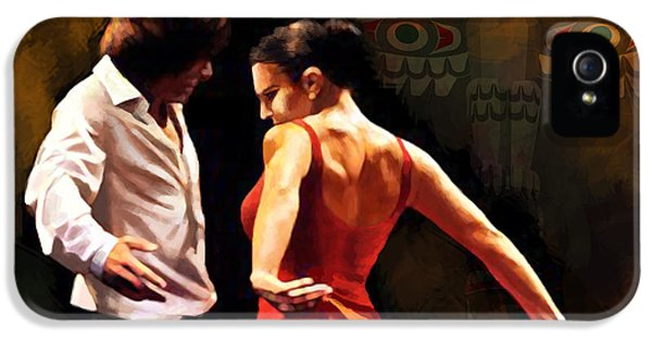 Coordination iPhone 5 Cases - Flamenco Dancer 012 iPhone 5 Case by Catf