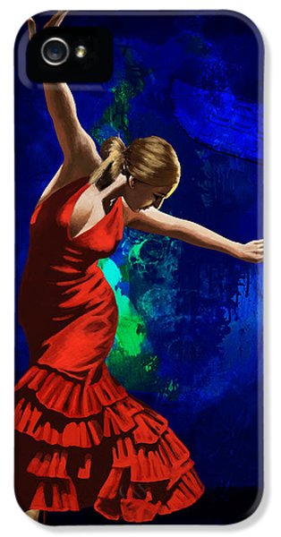 Coordination iPhone 5 Cases - Flamenco Dancer 014 iPhone 5 Case by Catf