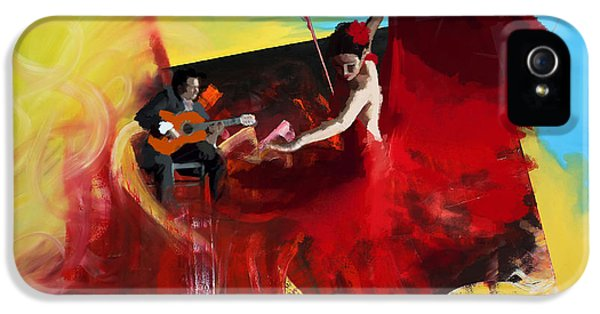 Coordination iPhone 5 Cases - Flamenco Dancer 016 iPhone 5 Case by Catf