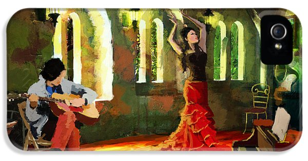 Coordination iPhone 5 Cases - Flamenco Dancer 017 iPhone 5 Case by Catf
