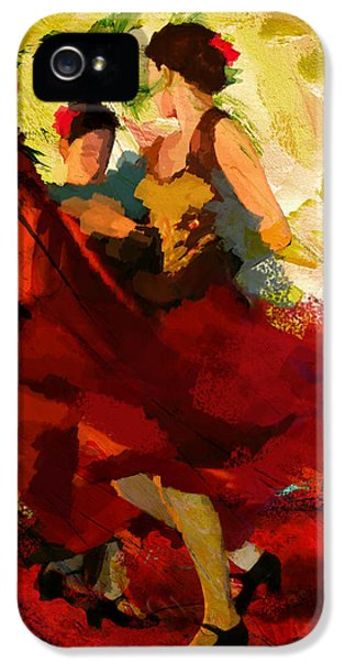Play iPhone 5 Cases - Flamenco Dancer 019 iPhone 5 Case by Catf