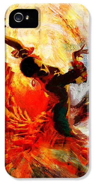 Play iPhone 5 Cases - Flamenco Dancer 021 iPhone 5 Case by Mahnoor Shah