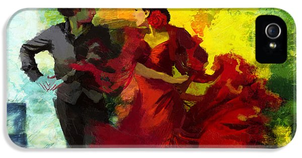 Coordination iPhone 5 Cases - Flamenco Dancer 025 iPhone 5 Case by Catf