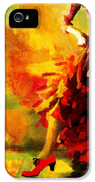 Coordination iPhone 5 Cases - Flamenco Dancer 026 iPhone 5 Case by Catf